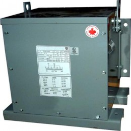6 kVA 416 Volt to 416Y/240 Volt Three phase Epoxy Encapsulated Transformer BC6G-N/EP